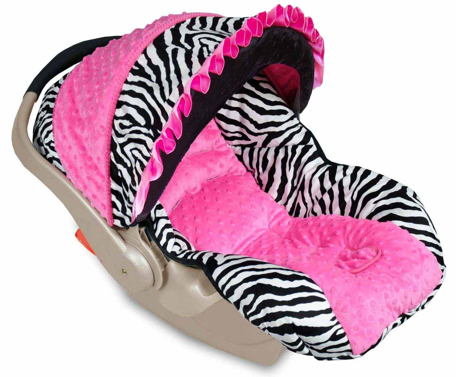 Pink Zebra Infant Car Seat Covers