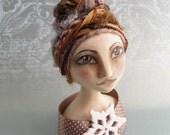 Reserved for NEEDLEROSI - Art Doll Christmas Ornament - Cadbury