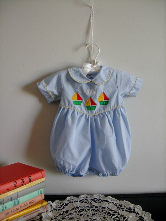 Sailboat Baby Boy Romper