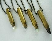 M16 Gemstone bullet pendant