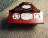 Miniature ooak Crochet dollhouse doilies 2 round and 1 oval