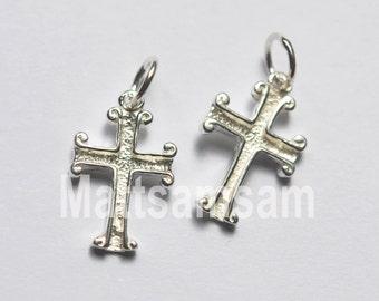 1 X 925 sterling silver cross pendant 18mmx11mm (12221pend)