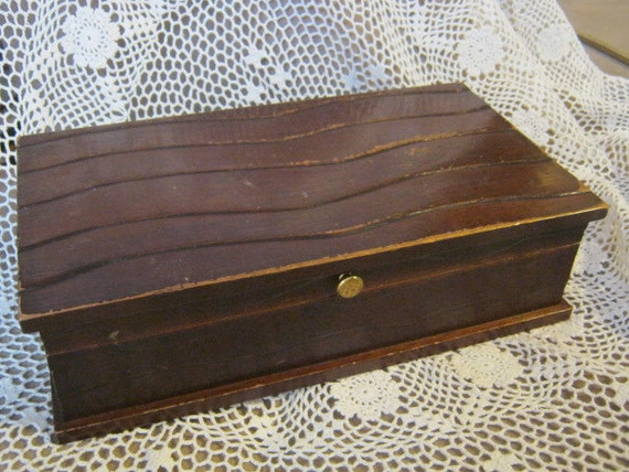 Super cool shabby chic mid century wood box men's jewel box dresser chest tray