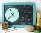 Mini Goals Clockboard - Swirly - Clear Sky/Foamy