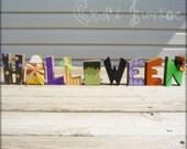 Cute Halloween wood letter set