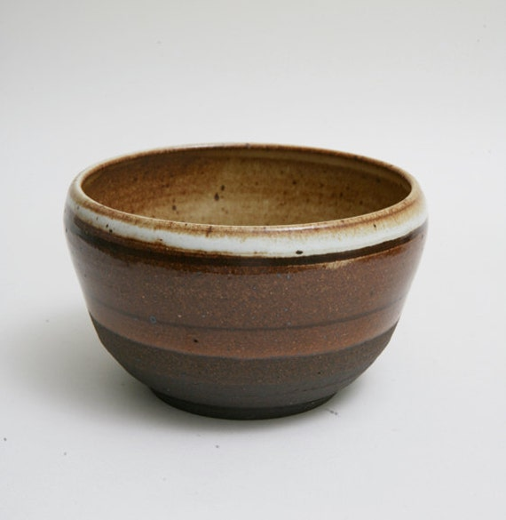 Wheel Thrown black mountain clay noodle or rice bowl