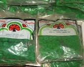 Vintage GREEN 3/8 inch Pom Poms Christmas Craft lot of 120 Darice 1970's NOS