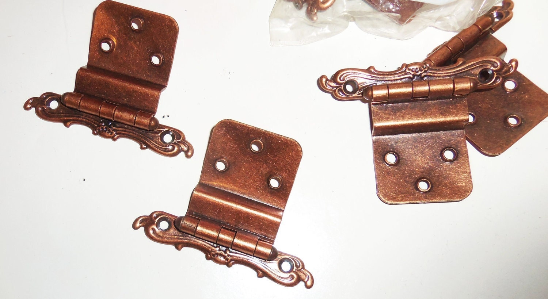 antique copper cabinet hinges