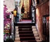 Venezia secret stairs Giclee Art Poster