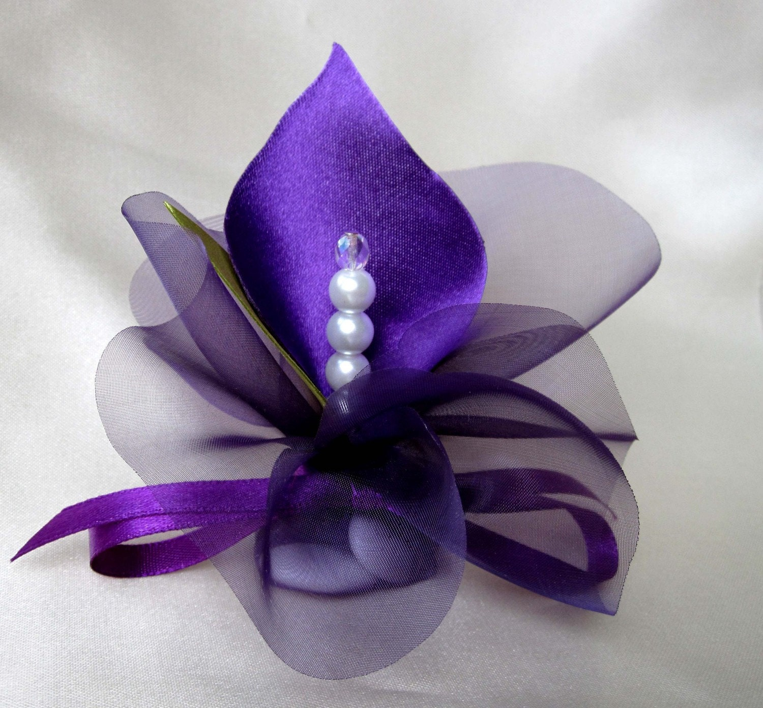 35 Purple Wedding Favors Calla Lily Crystal Purple By Adiart1