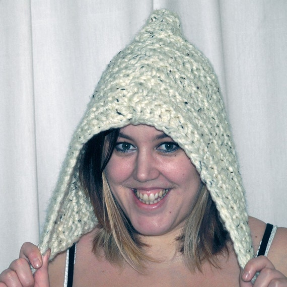 CLEARANCE SALE Woodland Pixie Crochet Hood