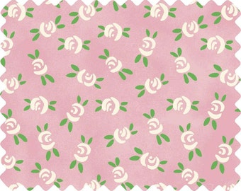 Price Reduced!  Aunt Lindy's Small Roses in Pink (7175)  - by the piece - 1 yard 17-inches