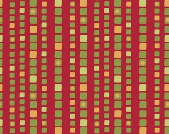 Price Reduced!  Holiday Magic Square Stripe in Red (1139) - BTY - Studio E Fabrics