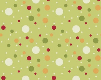 Holiday Magic Dots in Olive (1141) -BTY - Studio E Fabrics