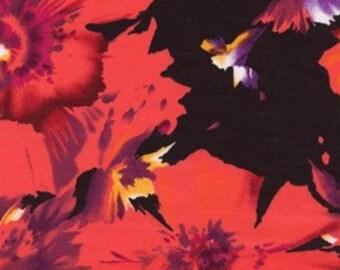 Van Gogh Etched in Red (FS19) - BTY - rayon poplin