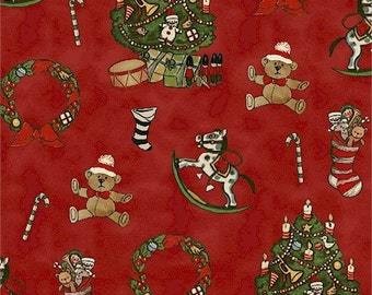 Red Christmas Ornaments (30860-2) - BTY - Windham Fabrics