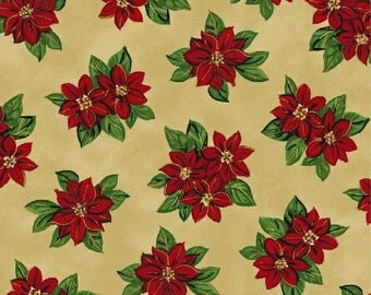 Gold Poinsettia (30865-5) - BTY - Windham Fabrics
