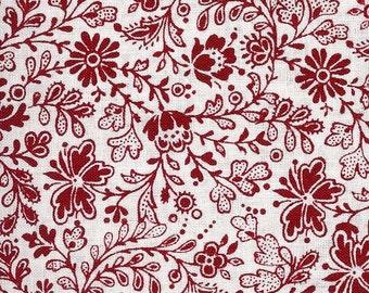 Sale!  Fat quarter bundle in red floral (5)