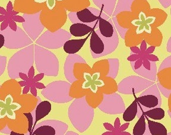 Price Reduced!  City Blooms Orange/Magenta (02319-33) - BTY - Benartex