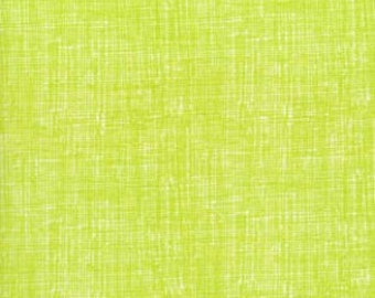Price Reduced!  Lime Texture Organic Cotton (OC8224-LIME) - BTY - Timeless Treasures