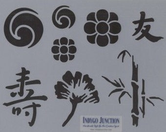 Sale!  Asian Elements I stencil by Indygo Junction