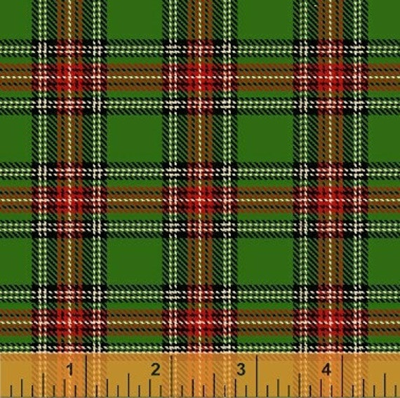 Green Christmas Plaid (30866-4) - 1 yard (36 inches x 44 / 45 inches) - Windham Fabrics