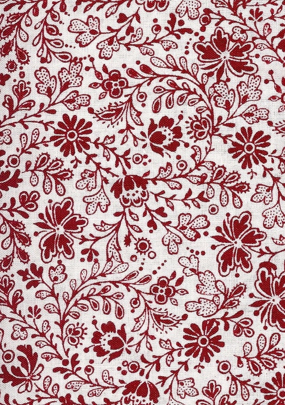 Listing for Gollywoggle Designs - Fat quarter bundle in red floral (5)