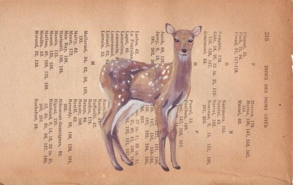 A deer - Original painting