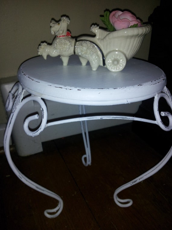 Shabby Chic Small Plant Stand  - ShipPing Not InCluDed