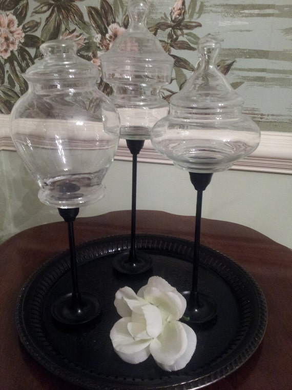 Platter, Glass Jars, Shabby Chic Decor