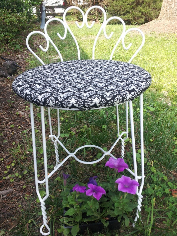 RESERVED Vintage Vanity Chair -- Shabby Chic -- SHIPPING Not INCLudED