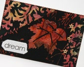 Dream Quilted Fabric Postcard - Art Card