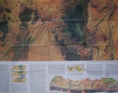 VINTAGE NATIONAL GEOGRAPHIC 1978 WALL MAP OF THE GRAND CANYON - 22X32 - EPHEMERA - Free Shipping