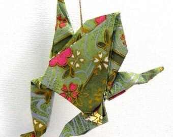 Paper Frog Ornament