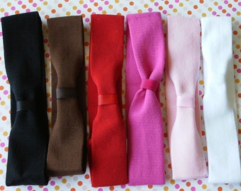 INTERCHANGABLE Soft Stretch Baby Headband---You Pick Color---1.5 inch