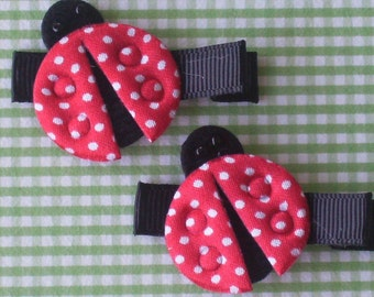 Boutique Baby Girl Toddler Clippies-----LITTLE LADIES-----SET of 2