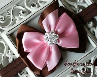 NEW ITEM----Boutique Satin Rhinestone Bow Headband-----Sweet Tooth
