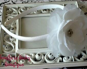 NEW ITEM----Rhinestone Flower Headband--------Tori