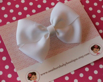 NEW------Boutique Wendy Hair Bow Clip-----White----