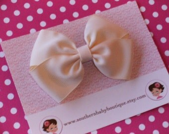 SALE------Boutique Wendy Hair Bow Clip-----CREAM-----