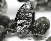 4 Tourmalinated Quartz 13mm -14mm marquise faceted briolettes