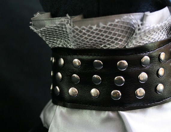 Robot Couture Neck Collar - Dalek-inspired high-elegance studded ruffled choker in a Gothic Victorian Style