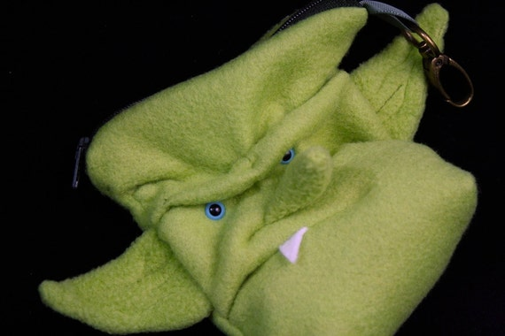 Gornuk the Goblin Change Purse - zippered pouch Gringots or WoW orc- mini purse for conventions keychain
