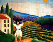 Proverbs 31 Woman Series: Italy - Matted Print from Original Acrylic - 8x8 in.