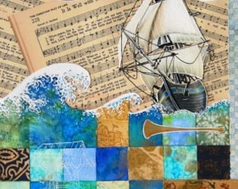 Hymns - It Is Well - Matted Print from Original Collage