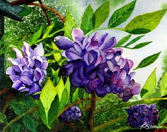 Tiny Bits of Nature - Wisteria - Greeting Card