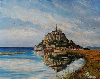 Mont St. Michel - Matted Print from Original Oil Painting