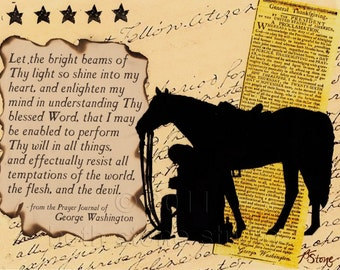 Quotes - George Washington - Print from Original Collage