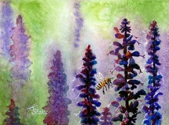 Tiny Bits of Nature - Busy Bee - Greeting Card