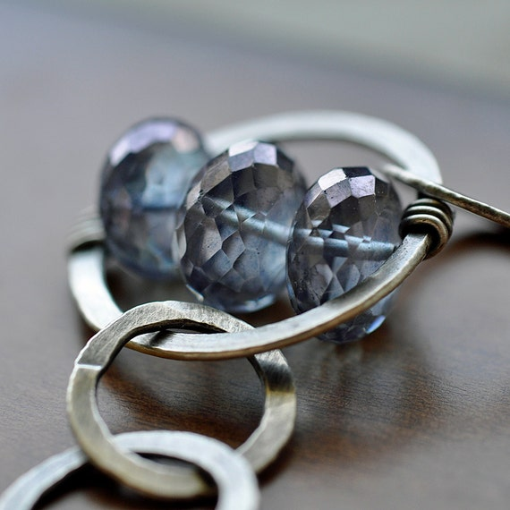 Connect the Rings - fine silver and Mystic Tanzanite